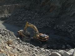Stock Video Footage of Crusher stone quarry PAL