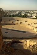 El jem roman arena (colosseum) in tunisia Stock Photos