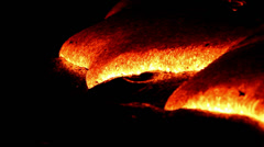 Lava flow Hawaii Stock Footage