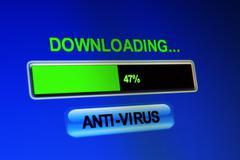download antivirus - stock photo