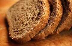 wholewheat bread - stock photo