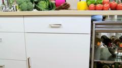 African American Seniors Kitchen Wireless Technology - stock footage