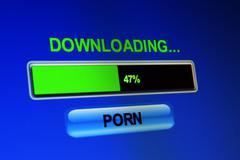 downloading porn - stock illustration