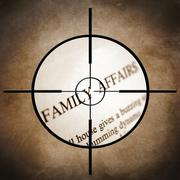 family affairs - stock illustration
