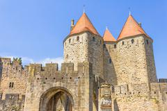 the medieval city of carcassonne, france - stock photo