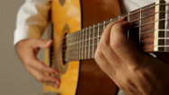 Stock Video Footage of strumming chords