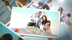 Instant photos of summer situations Stock Footage