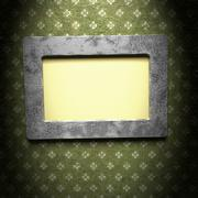 Picture frame with a decorative pattern Stock Illustration