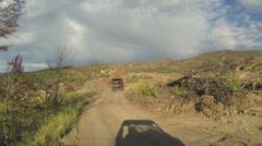 Trail ride mountain dirt road 4x4 RZR POV HD 0045 Stock Footage
