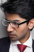 Businessman man with glasses Stock Photos