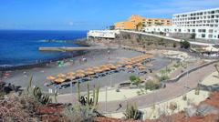 Small beach in Callao Salvaje, Tenerife. - stock footage
