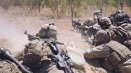 Stock Video Footage of Infantry - Light Machine Gun fire 01