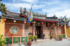 Hoi quan trieu chau temple in hoi an Stock Photos