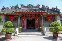 cantonese assembly hall hoi an - stock photo