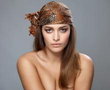 Young beauty wearing a headscarf Stock Photos