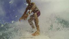 POV Surfing Fall - stock footage