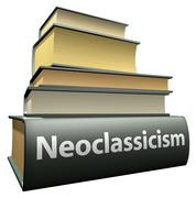 Education books - neoclassicism Stock Illustration