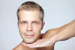 male beauty - stock photo