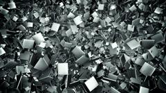 Abstract metal tile field loop background Stock Footage