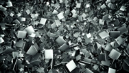 Stock Video Footage of Abstract metal tile field loop background