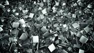 Stock Video Footage of Abstract metal tile field loop background
