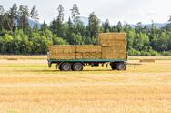 Stock Photo of cart with hay on it