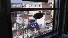 View from train Osaka Japan - stock footage