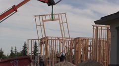 New Home Construction, carpenters Stock Footage