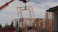 Stock Video Footage of New Home Construction, carpenters