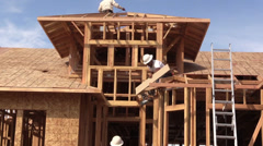 New Home Construction, builders Western states Stock Footage