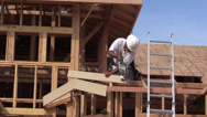 Stock Video Footage of New Home Construction, single family