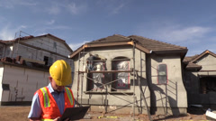 New Home Construction, appraisal Stock Footage