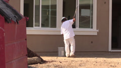 Painter, New Home Construction Stock Footage