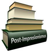 Education books - post impressionism - stock illustration