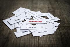 satisfaction concept - stock photo