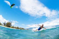 kiteboarding - stock photo