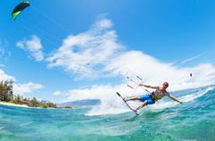 kiteboarding - stock photo