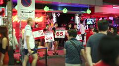 THAILAND RED LIGHT DISTRICT - Walking street in Pattaya Stock Footage