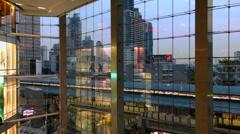 MODERN ARCHITECTURE - BANGKOK TERMINAL 21 MALL Stock Footage
