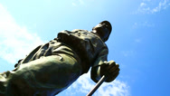 Stock Video Footage of Babe Ruth statue, Baltimore