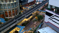 BANGKOK CITY - ASOKE BTS Stock Footage
