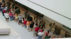 American Soldiers return from Afghanistan Stock Footage