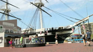 Stock Video Footage of Tourists at USS Constellation