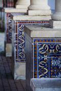 portuguese azulejo tiles - stock photo