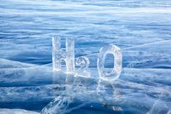 chemical formula of water h2o - stock photo