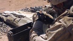 Infantry - Light Machine Gun fire 06 Stock Footage