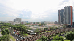 Clementi New Town Singapore Stock Footage