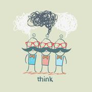 think - stock illustration