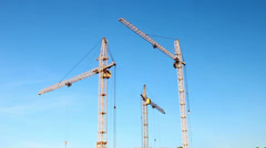 time-lapse tower crane - stock footage