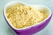 Stock Photo of maca, lepidium meyenii, powder